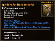 Epic Iron Jet Head Shredder