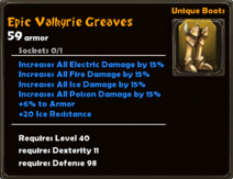 Epic Valkyrie Greaves