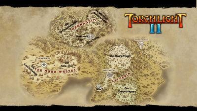 Torchlight world map