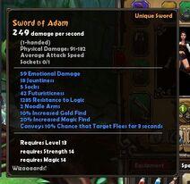 Sword of Adam stats