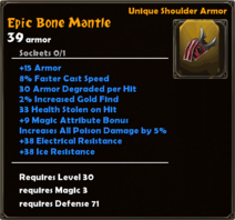 Epic Bone Mantle