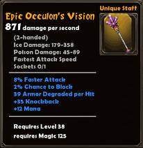 Epic Occulon's Vision