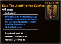 Epic The Annihilation Sandles