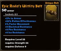 Epic Rodin's Utility Belt