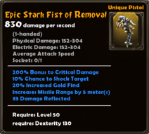 Epic Stark Fist of Removal