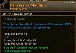 Bracers Ex Machina