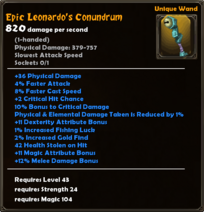Epic Leonardo's Conundrum