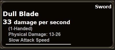 Dull Blade Info