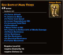 Epic Boots of Many Things
