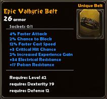 Epic Valkyrie Belt