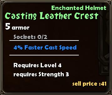 Casting Leather Crest Details