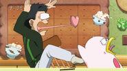 Komatsu and Yun scared by Pochiko