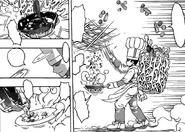 Komatsu preparing food on the spot