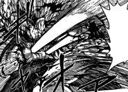 Toriko hitting Starjun with Twin Nail Gun