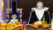 Apalon and Kitt eat Hardcrab