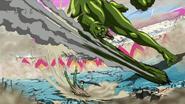 Scum Beast injures Yuda