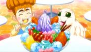 Child Bohno and Chris eathing Parfait