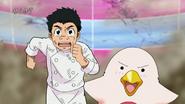 Komatsu and Yun running