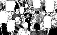 Komatsu surrounded by people at CF
