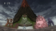 Young Ichiryuu facing Four Beasts