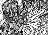 Toriko using Fork Armor