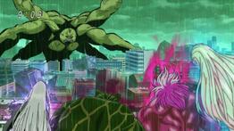 La batalla sucesiva entre los reyes y la cuatro bestia