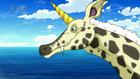 Giraffebird sensing danger