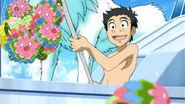 Komatsu catching Harisenka
