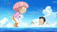 Komatsu surprised by Setsuno standing on water