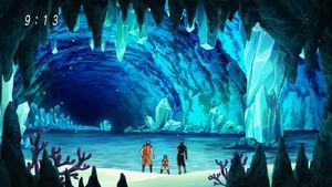Sandy Beach in the Cave anime