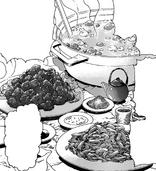 Un plato lleno de rebanadas de talón Leech