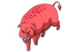 Red Haired Pig