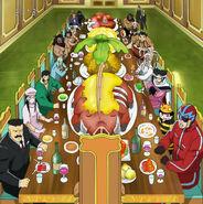 0th Biotope members having dinner