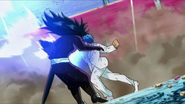 Toriko hits Starjun on chest