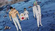 Sunny and Coco protect Komatsu