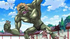Una Bestia Escoria atacando el Templo