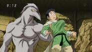 Nitro attacking Komatsu from behind