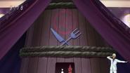 Komatsu gets in the hut
