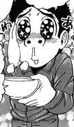 Komatsu liking the soup Melk made
