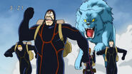 Zonge, his men and Tina chased by Ice Jaguar