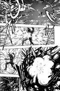 Toriko hitting Starjun with Leg Boomerang and Cannon Fork