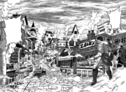 Toriko and Coco finding a town in the mist