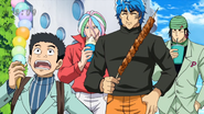 Toriko and group on carriage Eps 58