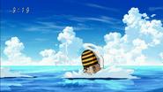 Mitsurou swims