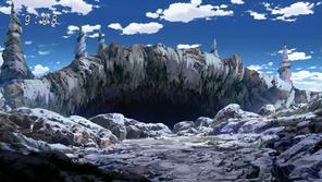 Entrada a la caverna playa