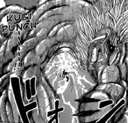 Toriko hitting Gaoh with Kugi Punch
