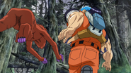 Toriko evading Barbarian Monkeys