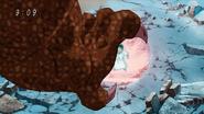Meteorzaur próbuje złapać Komatsu