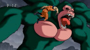 Toriko using Knocking on Troll Kong