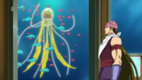 Acacia looking at Gourmet Jellyfish